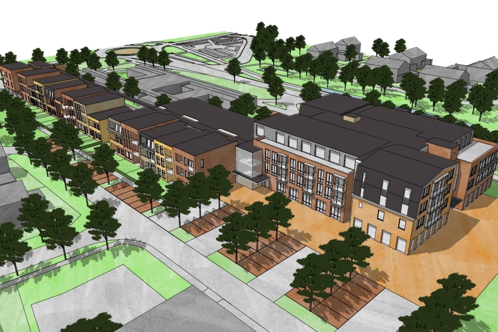 Borgerhof nieuwbouw wooncomplex met seniorenappartementen levering alle verlichting