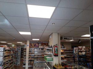 LED verlichting buurtsuper Grolloo